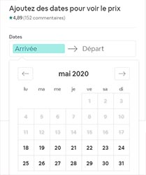 Calendrier Airbnb