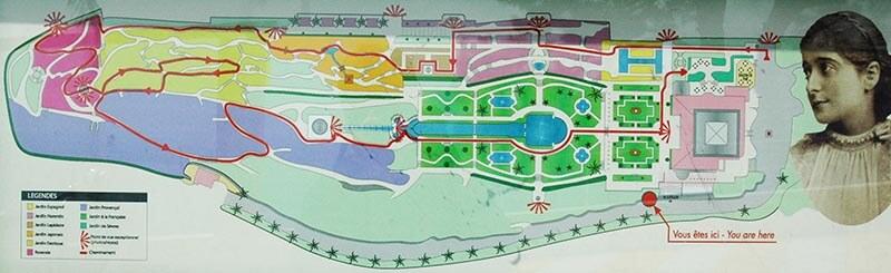 Plan des jardins