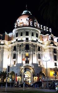 Hôtel Negresco de nuit